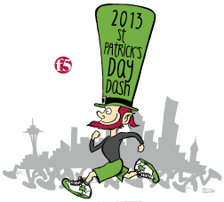 F5 St. Patricks Day Dash - 2013 logo