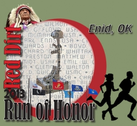 Red Dirt Run of Honor logo