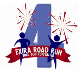 2013 Exira Road Run logo