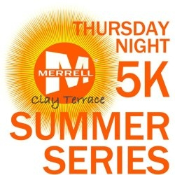 Merrell Clay Terrace Thursday Night 5k logo