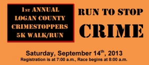 Crimestoppers 5K walk/run logo