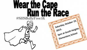 Wear the Cape, Run the Race logo