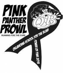 Oklahoma School for the Blind Pink Panther Prowl logo
