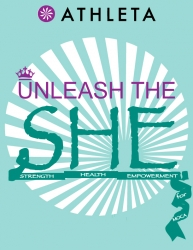Athleta: Unleash the SHE 2014 logo