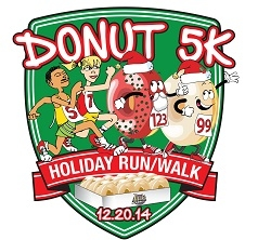 The Donut 5K Holiday Run/Walk logo