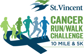 St. Vincent Cancer Run/Walk Challenge logo