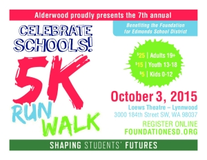 Celebrate Schools 5k Run & Walk logo