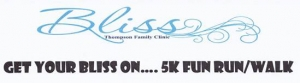 Get Your Bliss On....5K fun run/walk logo