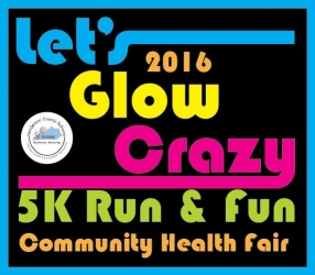 Lets Glow Crazy 5K run and fun logo