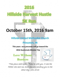 Hillside Harvest Hustle 5K run/walk logo