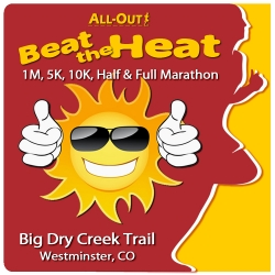 2018 All-Out Beat the Heat 1/5/10/Half/Full logo