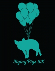 Hopefield Flying Pigs 5k logo