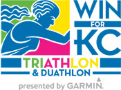 2018 WIN for KC Triathlon presented by Garmin logo