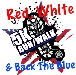 Red, White, and Back the Blue 5k Run/Walk logo