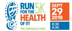 The Corvallis Clinic Run For The Health Of It logo