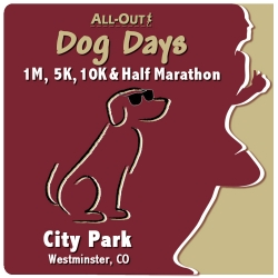 2019 All-Out Dog Days 1 / 5 / 10 / Half logo