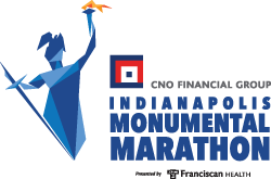CNO Financial Indianapolis Monumental Marathon logo