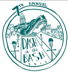 DASH IN THE BASH 5K logo