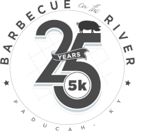BBQ on the River 5K logo