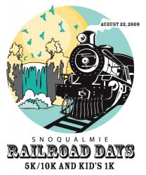 Snoqualmie Railroad Days Run logo