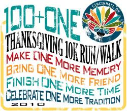 101st Thanksgiving Day Race - 2010 logo