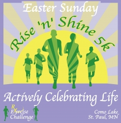 Easter Sunday Rise n Shine 5k logo