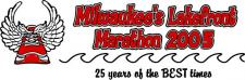 Milwaukees Lakefront Marathon 2005 logo